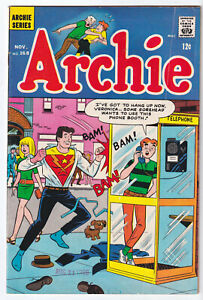 ARCHIE 168 (1966) Superhero Phone Booth Cover; FINE- 5.5