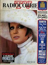 RADIOCORRIERE TV 24 1970 Mina Vittorio De Sica Al Bano Giulio Brogi Angela Luce