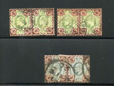 Great Britain George V Scott#133 Sg#240 3 Pairs Used Have Fun