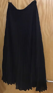 Next Tailoring  Long Black Pleated Skirt Size 16