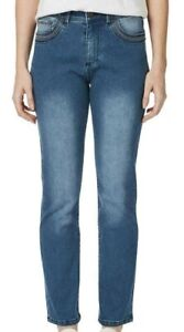 Ladies plus size 20 ROCKMANS Full length STRAIGHT  Rose Gold Jeans NEW RRP$59.99