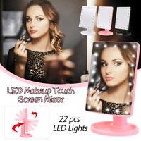 USB 22 LED LUCE SPECCHIO TRUCCO ILLUMINATO MAKE UP COSMETICI TAVOLO MIRROR