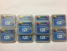 10PCS  Transcend    Compact Flash CF128mb  80X Memory Card