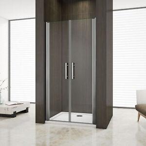 Aica 195cm box doccia nicchia cabina doccia apertura a battente cristallo