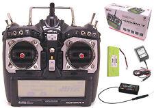 Hitec Aurora 9 2.4GHz HELI AIR Radio Optima 6 Receiver MD2 Transmitter 191246