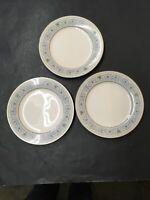 "Lot of 3 Vintage Noritake MONTELEONE Ivory China 8 1/4"" Salad Plates #7569 Japan"