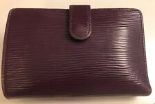Pre-owned Louis Vuitton Epi Leather French Wallet Cassis