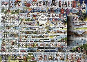 GIBSONS JIGSAW PUZZLE 🧩 CREAM TEAS & QUEUING - VAL GOLDFINCH 1000 PIECES