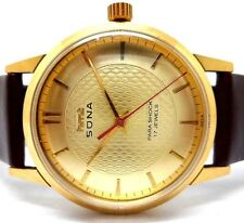 vintage hmt sona gold plated hand winding gents super slim india watch run order