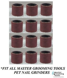 12 Replacement Sanding Bands For MASTER GROOMING TOOLS Nail Grinders FINE GRIT