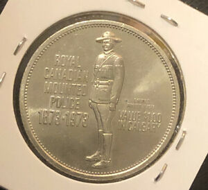 Royal Canadian Mounted Police 1873-1973 Calgary Stampede Canada Dollar Token