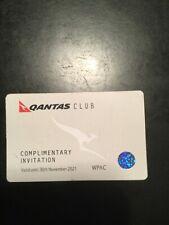 Four Qantas Club Lounge Pass November 2021 Expiration Valid Worldwide