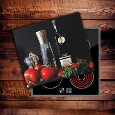 Herdabdeckplatten 60x52 cm Ceranfeld Abdeckung Glas Spritzschutz Küche