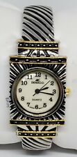 Ladies Denacci Silver/Gold/Black Bangle MOP Dial Quartz Watch GT-334 B2