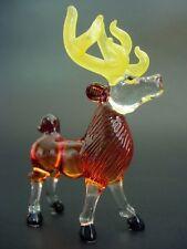 Glass DEER ANTELOPE Tinted Glass Animal Glass Ornament Curio Display Figure Gift
