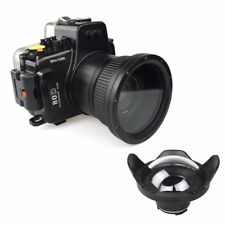 Meikon 130ft Underwater Camera Housing Diving Case for Canon 80D w/Dome Port