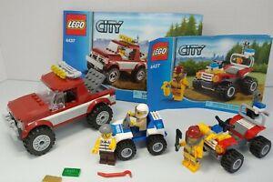 LEGO City Police Pursuit 4427 4437 lot 100% Complete w/ Minfigures Instructions