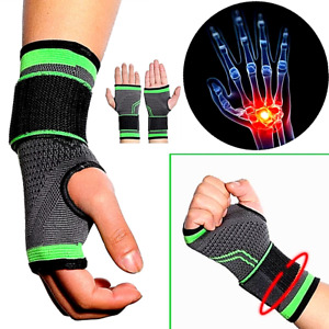 Wrist Brace Compression Hand Support Gloves Arthritis Carpal Tunnel ( 1 Pz )