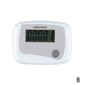 LCD Digital Step Pedometer Walking Calorie Counter Belt Clip Distance Run F0N4