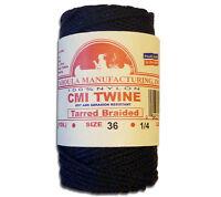 Catahoula No 36 Tarred Braided Bank Line 4 oz Spool 138 ft Nylon AA Seine Twine