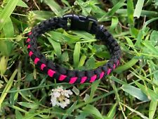 paracord bracelet BLACK PINK womans youth thin survival rope tactical camp