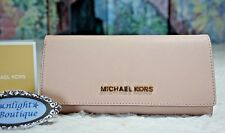 NWT Michael Kors JET SET TRAVEL Carryall Saffiano Leather Wallet In BALLET $178