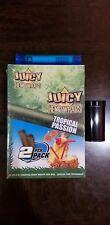 Juicy Jay Hemp TROPICAL PASSION Full Box (Free torpedo tube & pop top container)