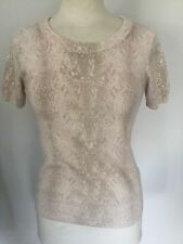 Jaeger Ladies Patterned Short Sleeve Jumper Size S. Good Condition.