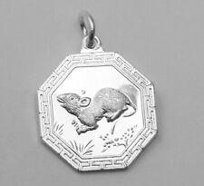 Sterling Silver Ba Gua Bagua Yin Yang Tai Chi Chinese Zodiac Animal Pendant NEW