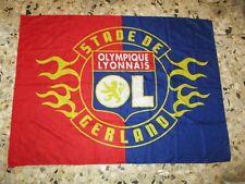 drapeau flag ancien STADE GERLAND OL LYON OLYMPIQUE LYONNAIS  132 X 98 CM ULTRA