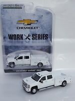 1:64 GreenLight *WHITE* 2018 Chevrolet Silverado 3500 HD DUALLY SERVICE TRUCK