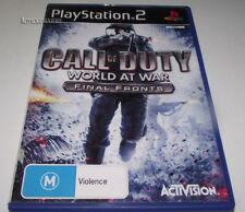 Call of Duty World at War Final Fronts PS2 PAL *Complete*