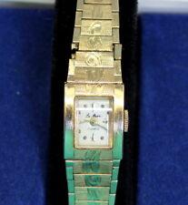 NICE 24.2g Heavy LE MARE 14K Gold LADIES 17 Jewel PESAG Swiss Wristwatch Runs