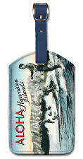 Leatherette Travel LUGGAGE TAG Baggage Label SURF Surfing HAWAII Aloha DUKE K.