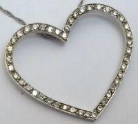 18ct Gold Diamond Heart Pendant and Chain