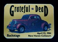 Grateful Dead Backstage Pass New Haven Connecticut CT 4/23/84 4/23/1984 SYF Car