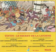 Tintin Hergé - Feuillet + Décor DECALCOMANIE Secret de la Licorne - 1978 Willeb