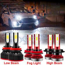 For Ford Fusion 2006-2016 6000K LED Headlights High Low Beam Fog Light Bulbs Kit