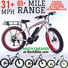 Fat Tire Electric Bike 1000W 17.5AH 48V Mountain Bicycle 31 MPH 65 Miles Ebike