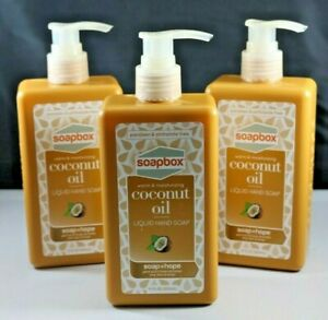 Soap Box Coconut Oil Hand Soap 3 Pack 11 fl oz Each Paraban Free