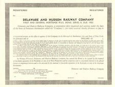 Delaware and Hudson Railway Company > 1983 bond certificate CP NS