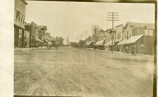 ANTIQUE MAIN ST USA HORSE CARRIAGE JEWELER WATCH TRADE SIGNS CLOCK RPPC PHOTO