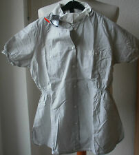 Horze señora blusa torneo, manga corta. talla 38, gris a rayas