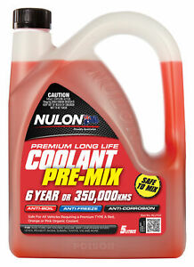 Nulon Long Life Red Top-Up Coolant 5L RLLTU5 fits SsangYong Stavic 2.7 270 sXDi