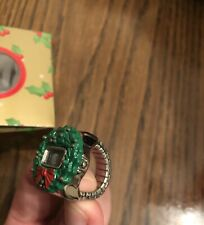 Christmas Ring / digital Watch- Wreath. Adorable with Ugly Christmas Sweater!