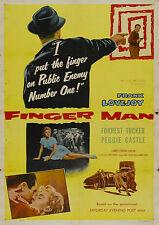 Finger Man (Crime '55) Frank Lovejoy, Peggie Castle, Forrest Tucker.