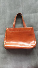Lederner Firenze-Taschen-Vintage Artbraunbeutel der Dame