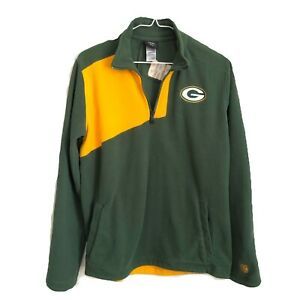 Green Bay Packers Youth 1/4 Zip Pullover Fleece Jacket Size L 14/16 NFL Football
