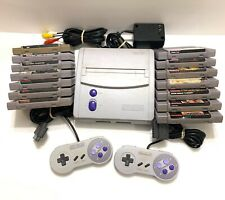 Super Nintendo Console SNES SNS-101 Jr Mini 2 Controllers Cables 14 Games Tested