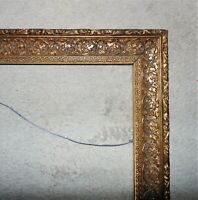 Ornate Picture Frame Gilt Wood & Gesso for Portrait Painting Print or Mirror